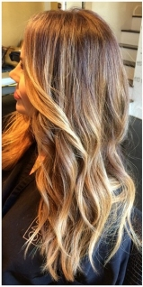 sunkissed highlights balyage method