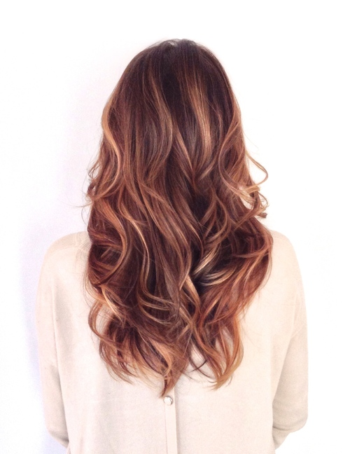 brunette with subtle highlights