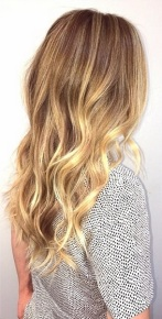 honey butter blonde highlights
