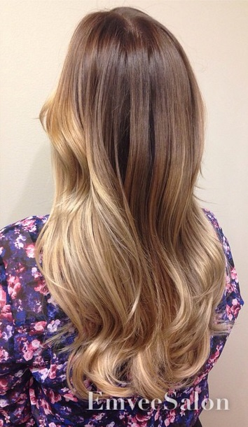 Warm Caramel and Golden Ombre | Mane Interest