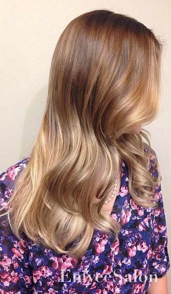 Warm Caramel And Golden Ombre Mane Interest