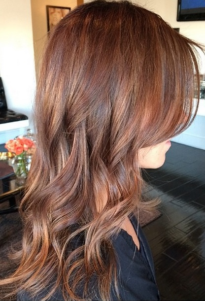 auburn brunette hair color