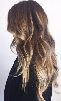 bronde hair color via balayage highlights
