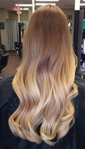 perfectly blended blonde highlights