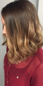 shoulder length hairstyles and ombre