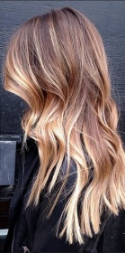 sombre brunette highlights - sort of ombre, sort of blonde