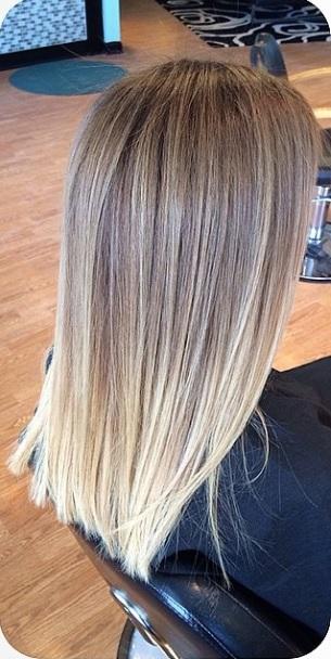 Blonde Color Melt Mane Interest