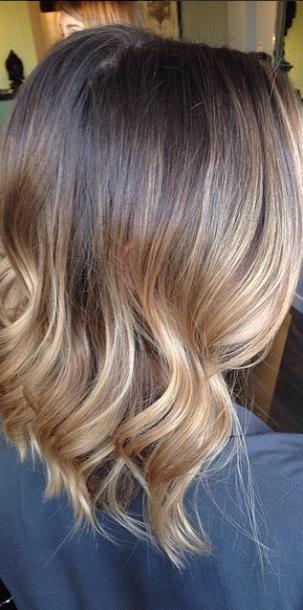Short brunette ombre mane interest - Ombre hair brune ...