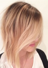 soft waves on a long bob hairstyle