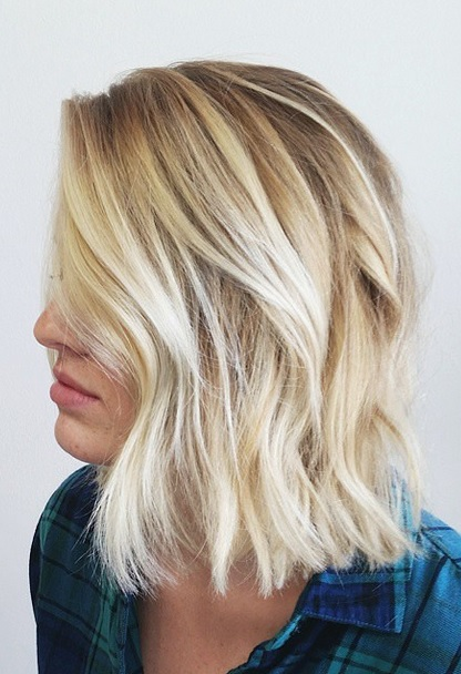 textured bob hairstyle