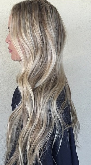 long blonde highlights blend