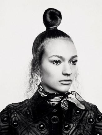 top knot - editorial vogue germany may 2015