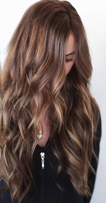 balayage brunette highlights and extensions