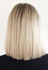 short length hairstyle ideas - blunt blonde bob
