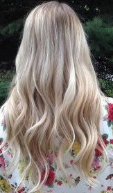 bombshell blonde balayage highlights