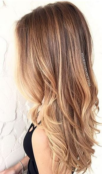 bronde ombre highlights via balayage