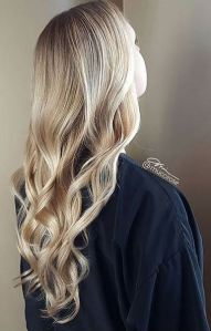 wavy beige blonde hair