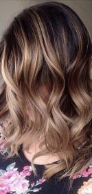 caramel latte brunette highlights