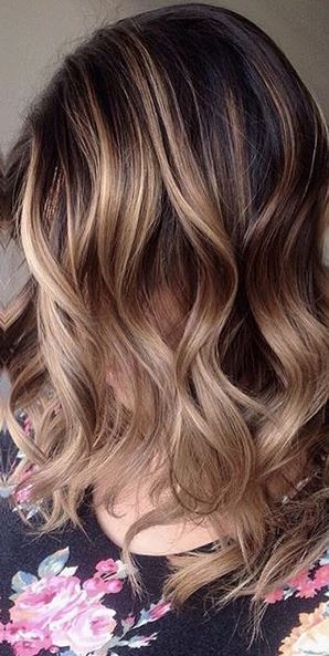 hair color - brunette balayage highlights