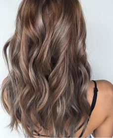 hair color idea - beige and ash brunette highlights