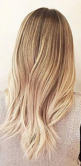 Subtle Blonde Ombre Mane Interest