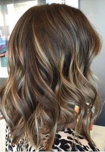 brunette with multi toned highlights