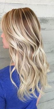 rooty blonde highlights with gold tones