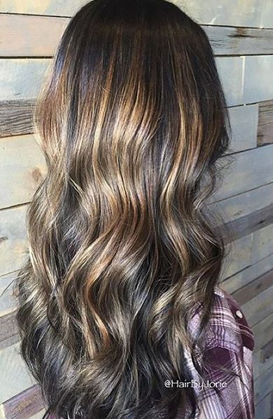 balayage brunette highlights 2016