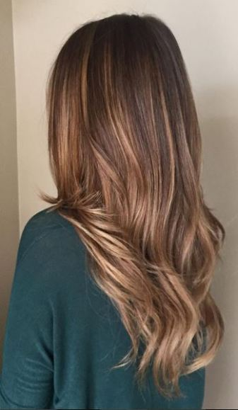hair color idea - light brunette