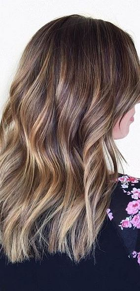 hair color idea - subtle brunette ombre highlights