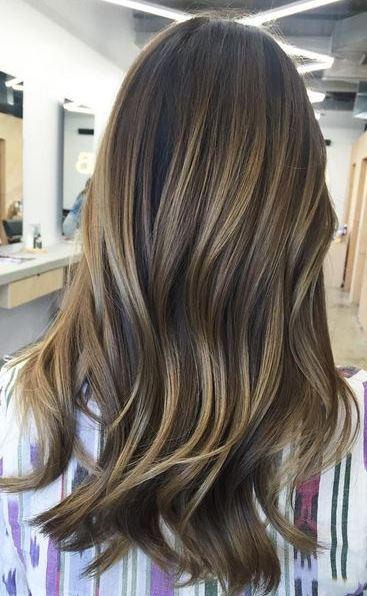 brunette balayage blend
