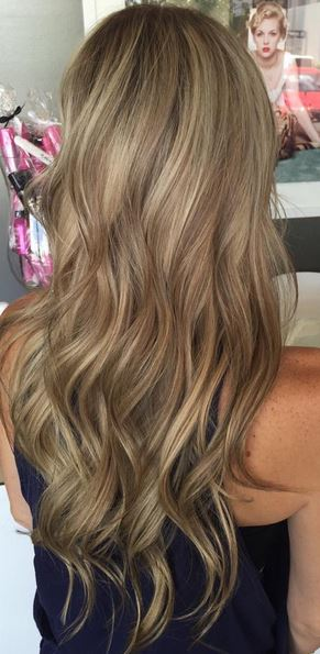hair color with dimension - multi toned blonde and bronde highlights