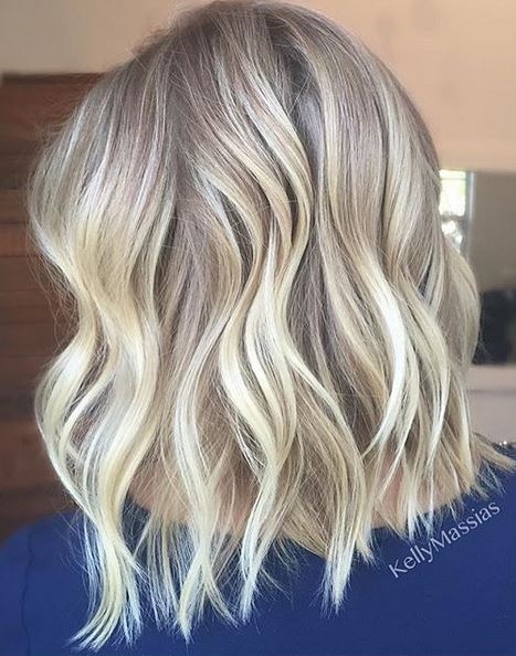 balayage blonde babylights