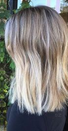 bronde ombre on shoulder length hair