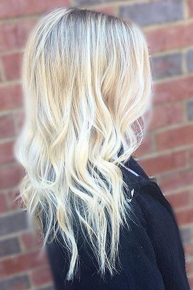 platinum and gold butter blonde highlights