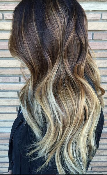 seamless brunette ombre