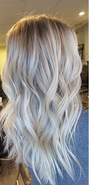 very subtle blonde ombre