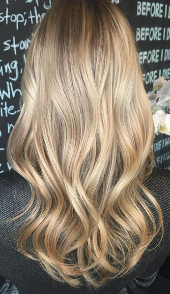 wheat toned blonde highlights