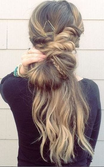 bohemian braided hairstyle idea