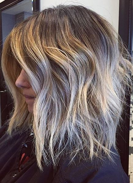 Shoulder Length Ombre Mane Interest
