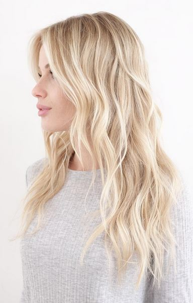 perfect blonde balayage highlights