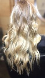 baby blonde and honey highlights