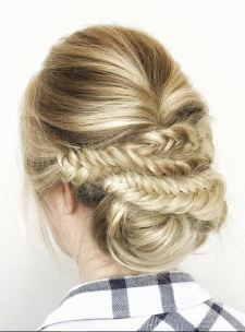 braids with low bun updo