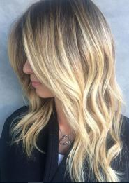 modern blonde ombre
