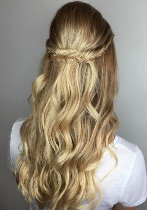 fishtail braid - easy half upstyle to try
