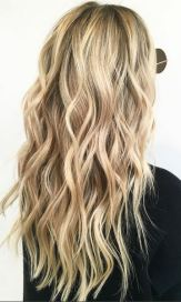 beautiful blonde highlights and hair color