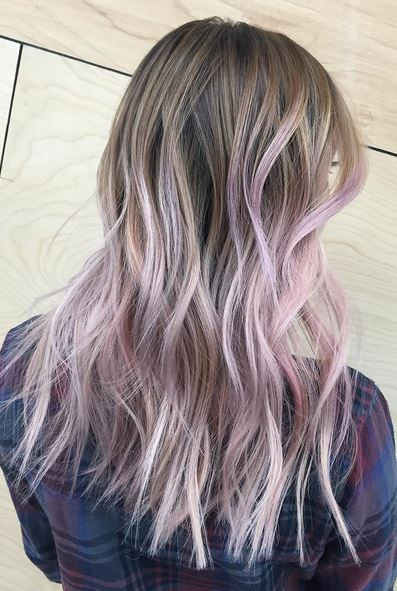 hair color to try ,lilac ombre