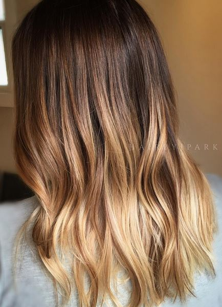 hair goals - honey brunette ombre