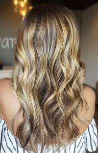 honey caramel and bronde highlights