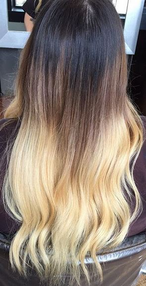 ombre hair color correction